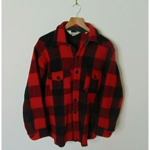 Vintage Woolrich L Buffalo Plaid Flannel Shirt